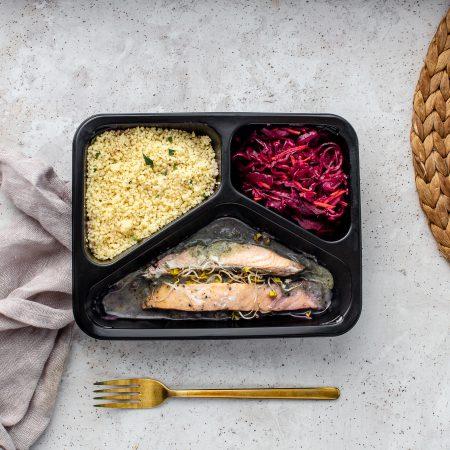 Danie diety wegetariańskiej z rybami